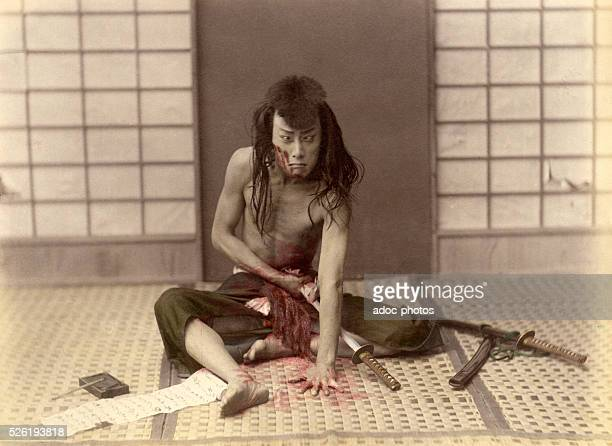 Samurai commiting seppuku ca 1880