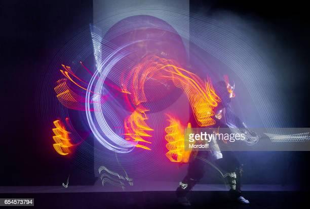 Samurai Dance With LED Glowing Sword