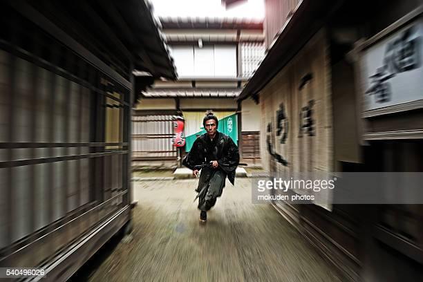 Samurai running high speed