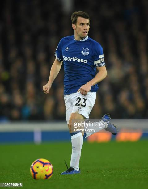 Séamus Coleman of Everton during the Premier League match between Everton FC and Watford FC at Goodison Park on December 10 2018 in Liverpool United...