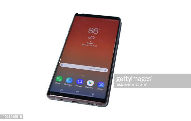 Samusng uneils the Galaxy Note 9 during an Unpacked event at the Barclays Center in the New York City borough of Brooklyn August 9 2018