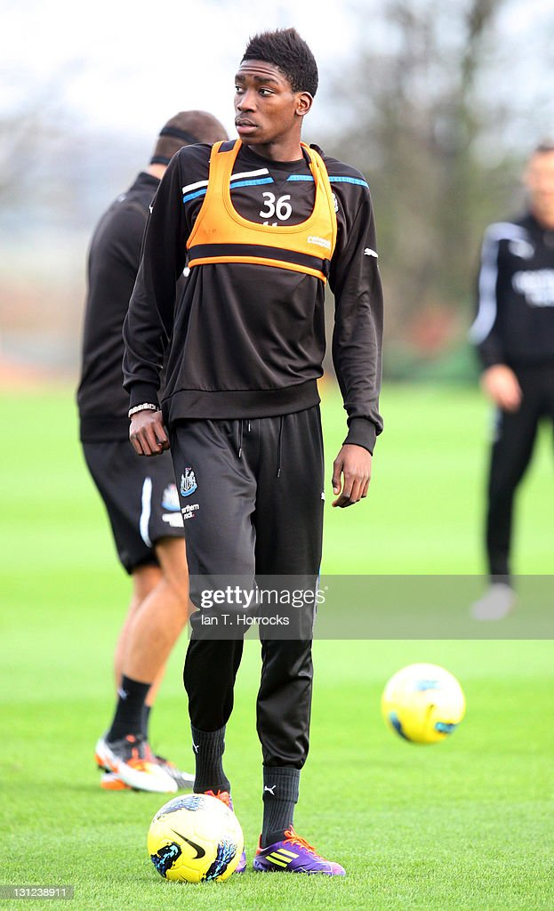 Samy Ameobi looks on during a Newcastle United Training session at The Little Benton Training Ground on November 03, 2011 in Newcastle, United Kingdom.