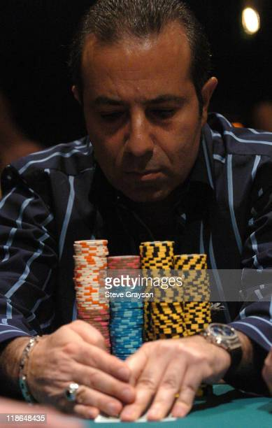 Samy Fahar competes in day two of the World Poker Tour's Doyle Brunson North American Poker Championship at the Bellagio Hotel in Las Vegas Nevada...