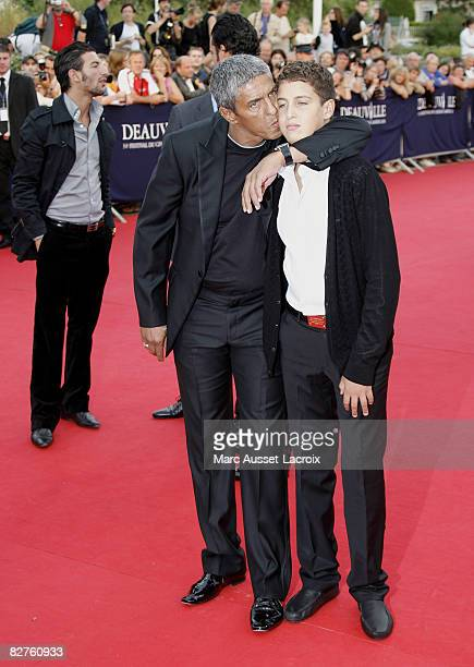 Samy Naceri and his son Julian arrives for the screening of the movie 'Miracle at St Anna' by US director Spike Lee on September 10 2008 during the...