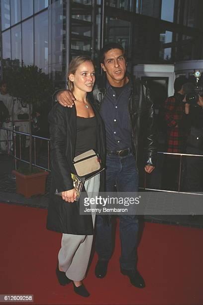 Samy Naceri and his wife Marie