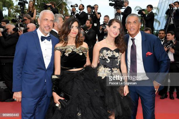 Samy Naceri his brother Larbi Naceri and guests attend the screening of The Wild Pear Tree during the 71st annual Cannes Film Festival at Palais des...