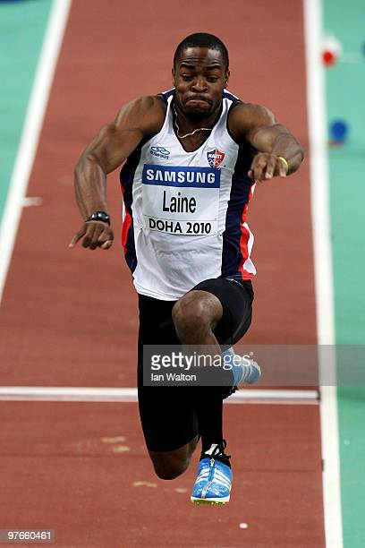 Samyr Laine of Haiti competes in the Mens Triple Jump Qualification during Day 1 of the IAAF World Indoor Championships at the Aspire Dome on March...