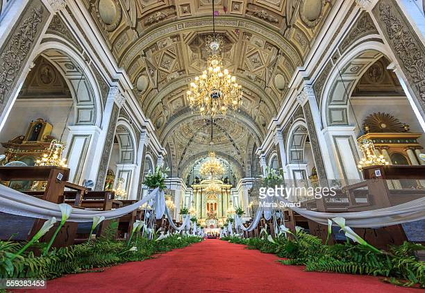 san agustin church, manila - church wedding decorations stock pictures, royalty-free photos & images
