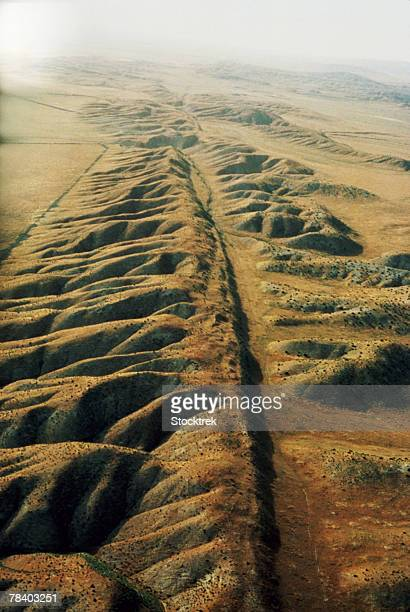 san andreas fault, california - san andreas fault stock pictures, royalty-free photos & images