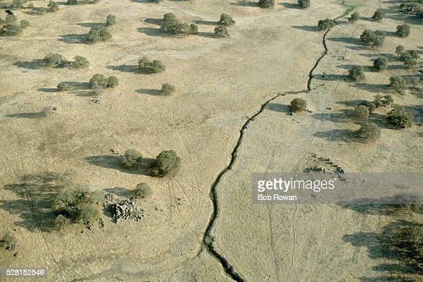 san andreas fault crack - san andreas fault stock pictures, royalty-free photos & images