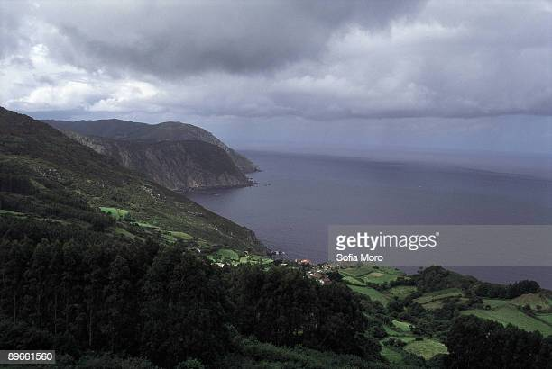 San Andres de Teixido Panoramic view of San Andres de Teixido and it´s coasts A Coruna province
