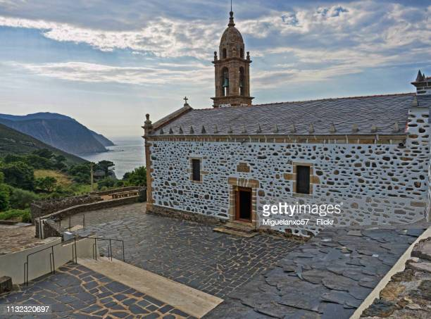 san andres de teixido sanctuary, north of galicia (spain) - cielo stock pictures, royalty-free photos & images