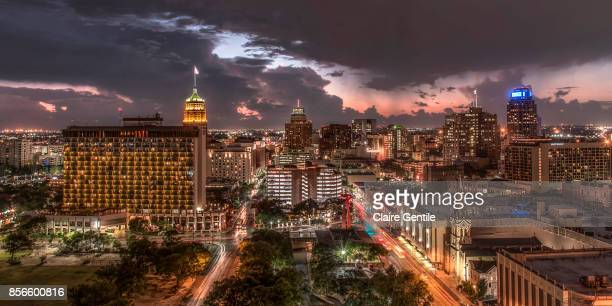 san antonio before the storm - san antonio texas stock photos and pictures