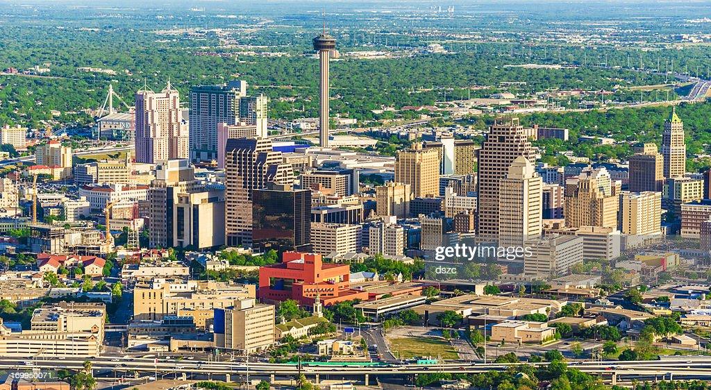 San Antonio Vista aérea do horizonte da cidade : Foto de stock