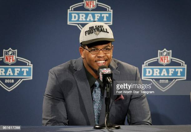 UT San Antonio defensive end Marcus Davenport is chosen 14th overall by the New Orleans Saints during the NFL Draft at ATT Stadium in Arlington Texas...