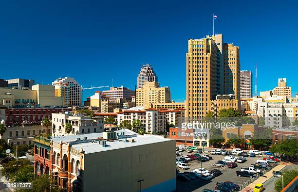 san antonio downtown view - san antonio stock photos and pictures