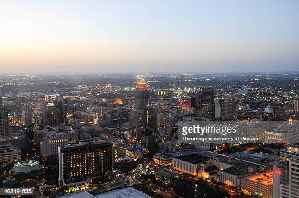 san antonio from the top - san antonio stock photos and pictures