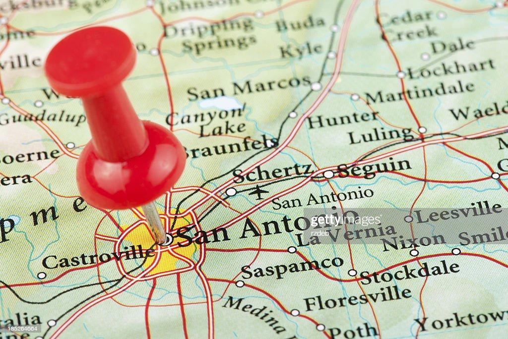San Antonio Maptexas Usa Stock Photo   Getty Images