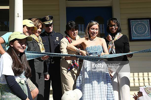 San Antonio native Marisol Deluna cuts the ribbon on her new store as Marisol Deluna New York Celebrates the Grand Opening Of Design Studio And...