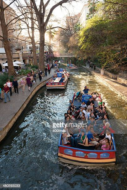 san antonio river - san antonio river walk stock photos and pictures