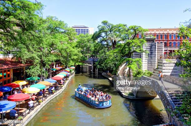 san antonio river walk - san antonio river walk stock photos and pictures