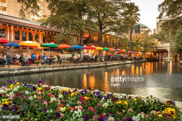 san antonio riverwalk canal - san antonio texas stock photos and pictures