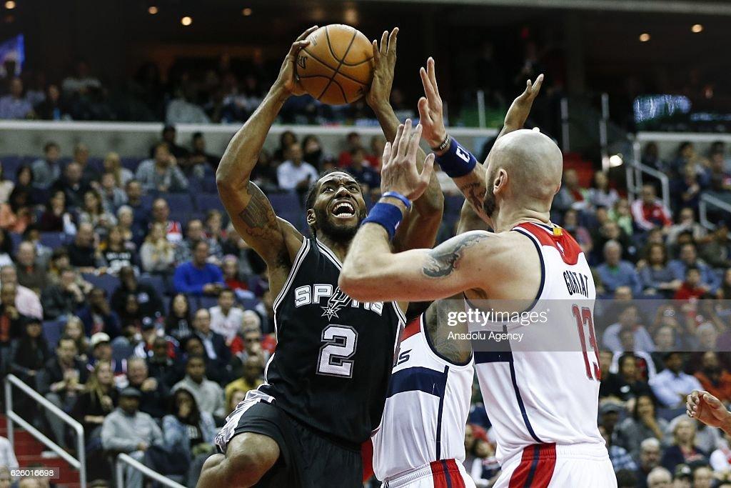 NBA - Washington Wizards vs San Antonio Spurs : News Photo