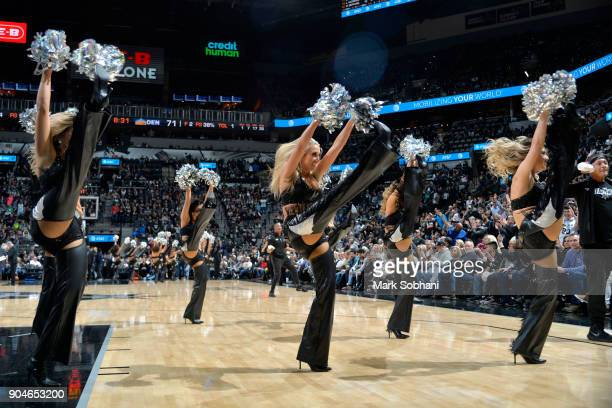 San Antonio Spurs dancers perform during the game against the Denver Nuggets on January 13 2018 at the ATT Center in San Antonio Texas NOTE TO USER...