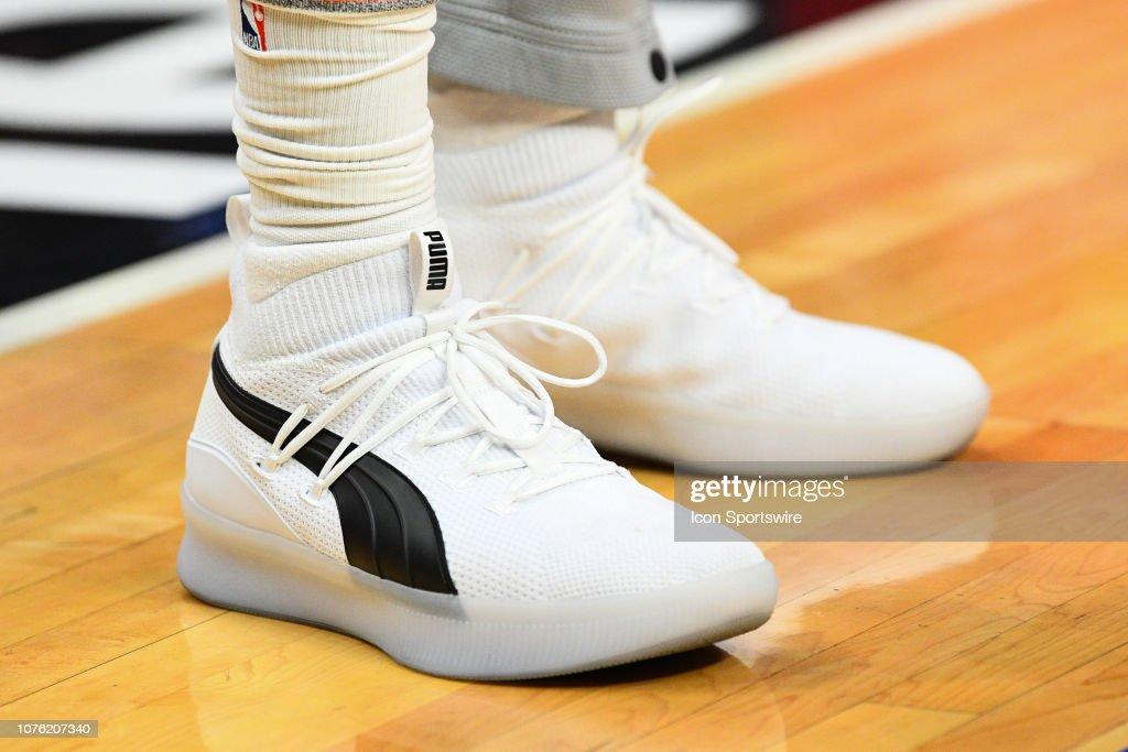2327c0bf777 San Antonio Spurs Forward Rudy Gay Puma shoes before a NBA game ...