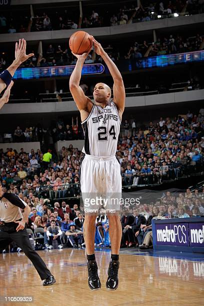 San Antonio Spurs small forward Richard Jefferson goes for a jump shot during the game against the Dallas Mavericks on March 18 2011 at the American...