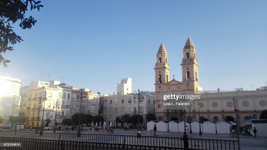 San Antonio square in Cadiz, Spain : Foto de stock