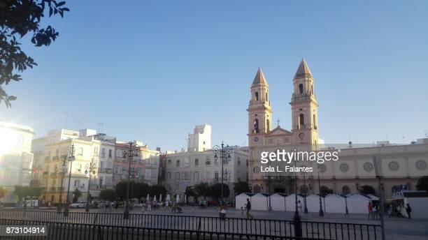San Antonio square in Cadiz, Spain