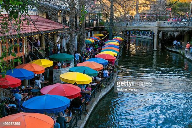 san antonio texas river walk - san antonio river walk stock photos and pictures