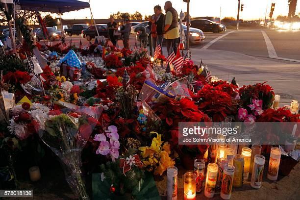 San Bernardino, Ca. December 17 A Makeshift Memorial At The Inland Regional Center In San Bernardino, Ca. San Bernardino Shooting Aftermath In San...