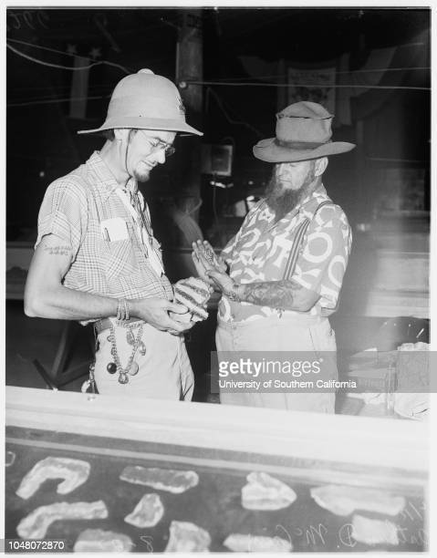 San Bernardino County Fair 22 August 1951 Frances Dolch 21 yearsRonald Haas 23 yearsArthue D McCainEd VoseCaption slip reads 'Richardson Date...