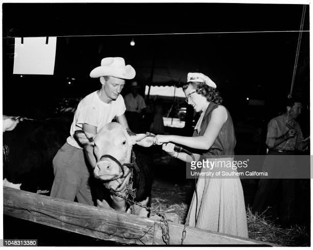San Bernardino County Fair 26 August 1953 Betty Marie Beach Bob Jones Johnny HenryDarlene FisherGeorge HoogweenPeggy PetaucciPhyllis FisherDonna...
