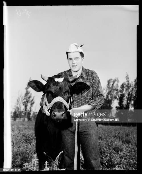 San Bernardino County fair at Victorville 20 August 1952 Maya Williams 18 years Queen of San Bernardino fairRobert Fowlkes 18 years Caption slip...