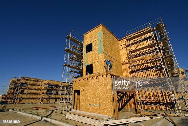 San Bernardino Dec17 2004 ––– An under construction senior housing complex by the East Los Angeles Community Union in San Bernardino The East Los...