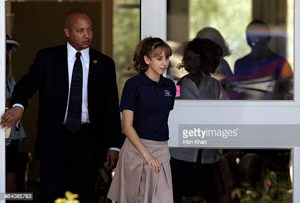 San Bernardino May 31 2006 Jazmine Grace Rotolo the daughter of the Prince of Monaco Prince Albert II or Albert Alexandre Louis Pierre Grimaldi walks...