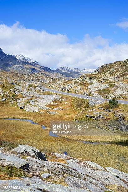 San Bernardino Pass in autumn colors, Switzerland