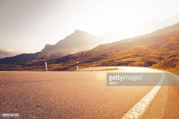 san bernardino pass, switzerland - road stock pictures, royalty-free photos & images