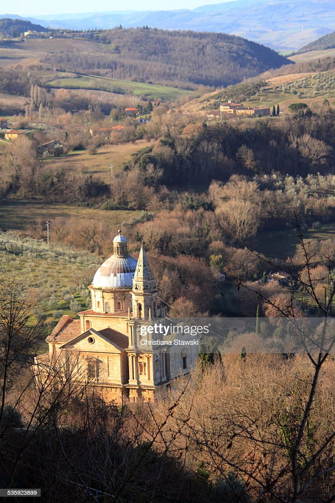 San Biagio Church seen from above : Stock Photo
