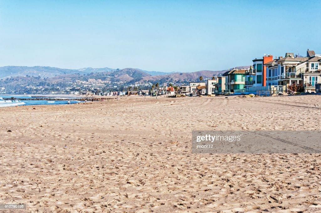 San Buenaventura Ocean View and Sandy Beach : Stock Photo