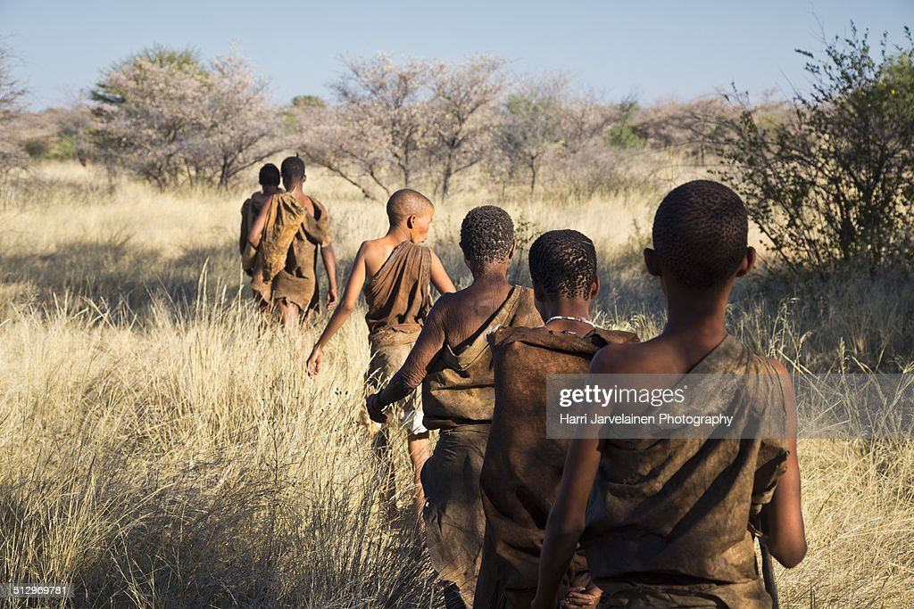 san bushmen of the kalahari desert