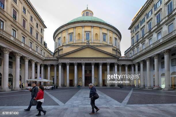 san carlo al corso church exterior,milan. - emreturanphoto stock pictures, royalty-free photos & images