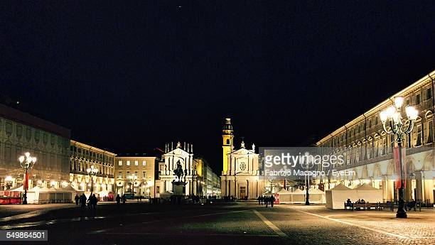 san carlo church at piazza san carlo square - piazza san carlo stock photos and pictures