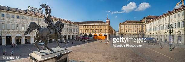 san carlo square - piazza san carlo stock photos and pictures