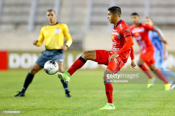 San Carlos midfielder Christian Martinez during the first half of the Scotiabank Concacaf Champions League game between AD San Carlos and New York...