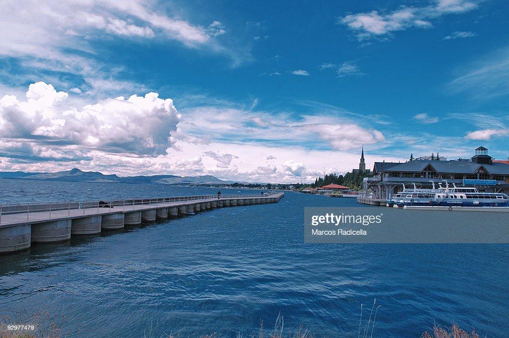 San Carlos Port, Bariloche : Stock Photo
