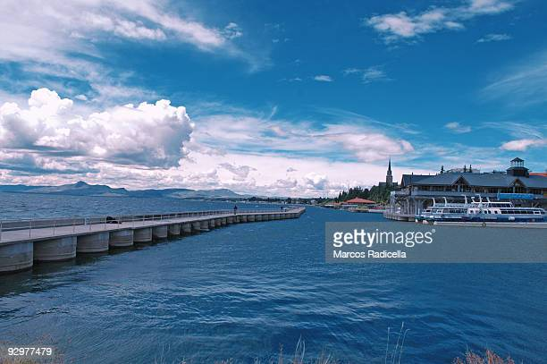san carlos port, bariloche - radicella stock pictures, royalty-free photos & images